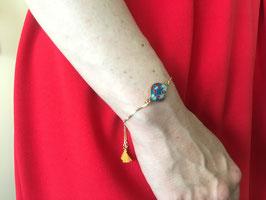 Bracelet réglable maille vénitienne en Acier Inox Doré