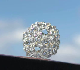 神聖幾何学フラーレン・クリア水晶8mm珠