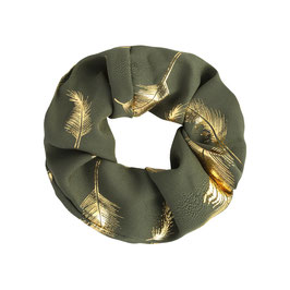 "Scrunchie ""Golden Feather"""