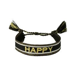 "Bracelet tissé ""HAPPY"""
