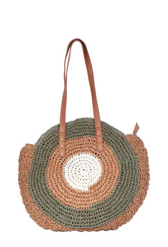 "Sac style panier rond ""Tricolore"""
