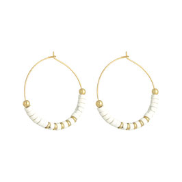 "NEW !!! Boucles ""Beaded Hoops"""