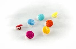 Lot de 16 Boutons coccinelles- multicolores