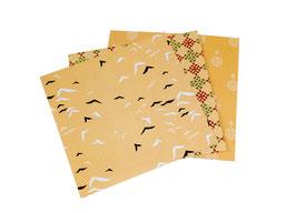 Papier origami - Divers motifs - Lot de 3