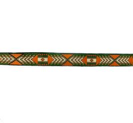 Ruban tissé aztèque vert