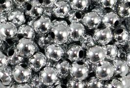 50 Perles de décoration argentées