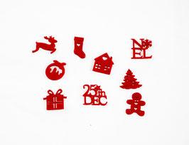 9 Petites Silhouettes Noël en feutrine