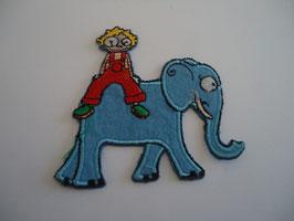 Ecusson thermocollant enfant sur éléphant
