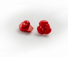 10 Boutons - Fleurs rouges