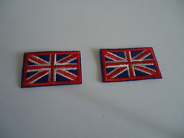 Lot de 2 Ecussons thermocollant union jack