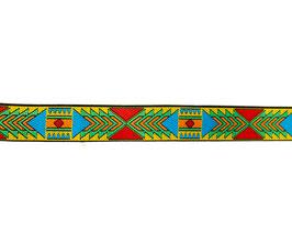 Ruban tissé aztèque jaune