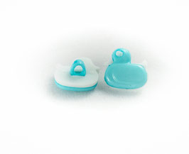 4 Boutons Canards Turquoises