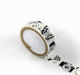 Masking Tape - Divers motifs noirs et blancs