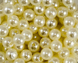 50 Perles de décoration nacrées