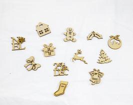 12 Silhouettes en bois - Noël