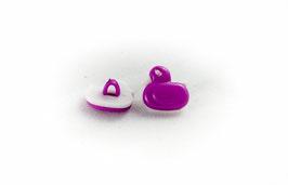4 Boutons Canards Violets