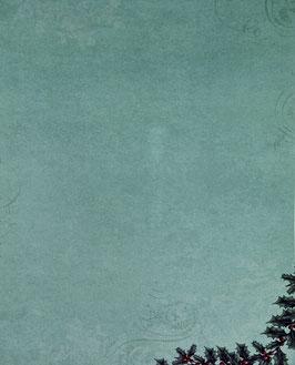Papier vert orné de houx - SPECIAL NOËL