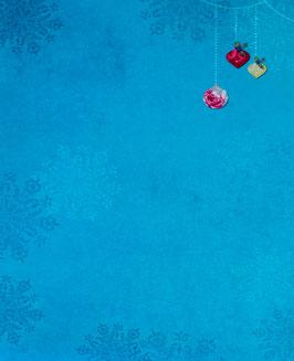 Papier bleu orné de boules - SPECIAL NOËL
