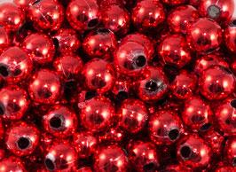 50 Perles de décoration rouges