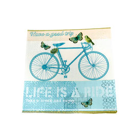Serviettes en papier - Vélo  - Lot de 4