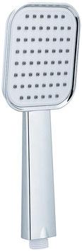 Marke Shruder Duschkopf Handbrause Flach Abgerundete Form ABS Farbe Weiß Chrom