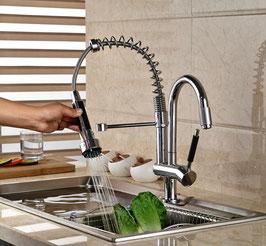 Küchenarmatur Einhebelmischer Handbrause Spültisch Armatur Chrom Ausziehbar