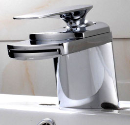 Badarmatur Einhebelmischer Wasserhahn Elegant Waschtisch Armatur Messing Chrom