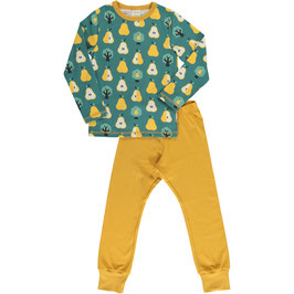 Maxomorra Pyjama Set LS Golden Pear