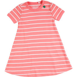 By Green Cotton Fred's World Stripe Dress Coral