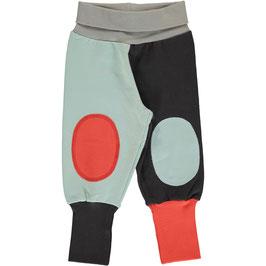 Maxomorra Pants Rib Sweat Block Multi Fun
