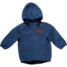 By Green Cotton Fred's World Softshell Jacke Grey Blue