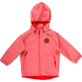 By Green Cotton Fred's World Softshell Jacke Dark Coral