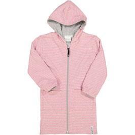 Geggamoja Bademantel wendbar classic Pink Daisy Stripe