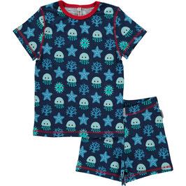 Maxomorra Pyjama SS 2-teilig Deep Sea