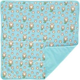 Geggamoja Bamboo Blanket Owl | One Size | Babydecke