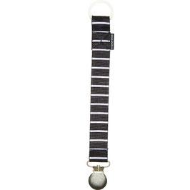 Geggamoja Pacifier holder / Nuggihalter Black/White