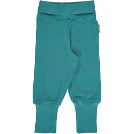 Maxomorra Pants Rib Soft Petrol