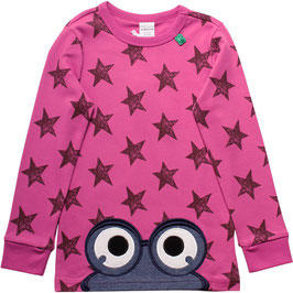 By Green Cotton Fred's World Shirt LS Star Peep Violet