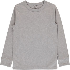 Maxomorra Shirt LS Light Grey Melange