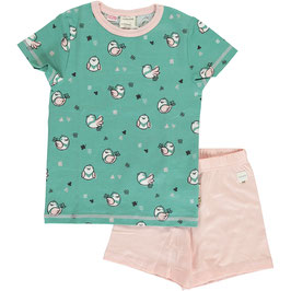Maxomorra Pyjama SS Little Sparrow