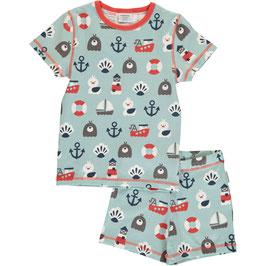 Maxomorra Pyjama SS Blue Ocean