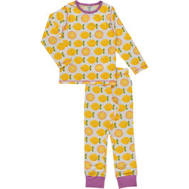 Maxomorra Pyjama LS Lemon