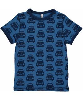 Maxomorra Shirt SS Cars Blue Klassiker