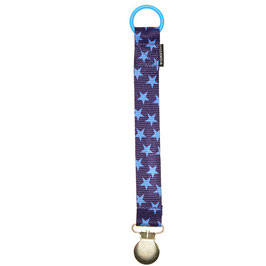 Geggamoja Pacifier holder / Nuggihalter Blue Stars