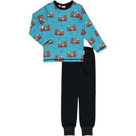 Maxomorra Pyjama LS Fire Trucks