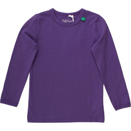 By Green Cotton Fred's World Alfa Shirt LS Old Purple *AKTION*