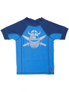 Danefae Badeshirt Hawaii Rashguard SS Pirate indigo