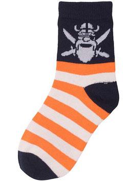 Danefae Socken Orange/off white Skipper