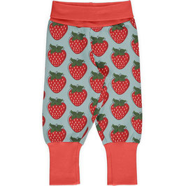 Maxomorra Pants Rib Strawberry