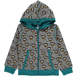 Maxomorra Cardigan Hood Monkey